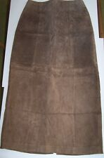 WOMEN SKIRT  BAGATELLE Size 4  BROWN SUEDE NEW LINED