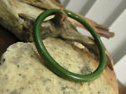 Vintage Collectible Genuine Olive Green Yellow carved Thin Bakelite Bracelet