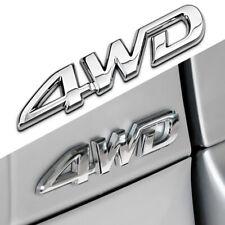 12.5cm*3cm 3D Silver 4WD Emblem Badge Metal Sticker Trunk Fender Car Styling