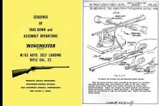 Winchester Model 63 Sequence of Take-Down and Assembly Operations