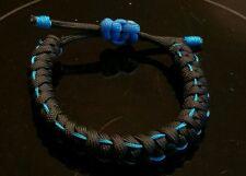 Paracord adjustable Thin Blue Line bracelet