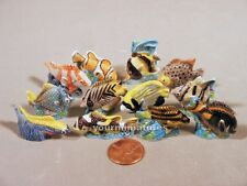 Fish Porcelain French Feves Miniatures Set of 12