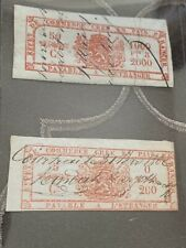 1857 Belgium Revenue Stamps