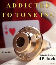 Takamine 4 Pin Phantom Power Output Jack  CTP-1 CTP-2 CTP-3 GOLD RARE  JACK ONLY