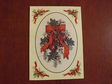 carte grille DMC branche de houx Noël