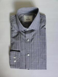 TODD SNYDER PLAID DRESS L/S SHIRT, Black,Sizes 14.5,15,15.5,16 (32/33),MSRP $125