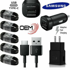 Original SAMSUNG Galaxy Note10 S8 S9 S10 E Fast Wall Car Charger Type C Cable