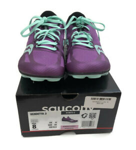 Saucony Women's Vendetta 3 Racing Shoes Size 8 US Purple S19073-2 Spikes