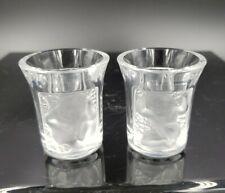 2 Lalique Angel Cherub Cordial Glasses Signed & Pristine   20