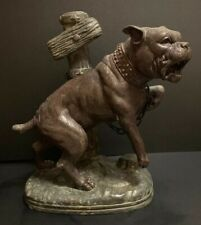 Rare Antique Charles Valton Bronze Bull Terrier Pitbull Mastiff Dog Statue