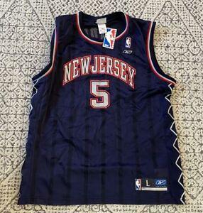 NWT Jason Kidd New Jersey Nets NBA Basketball Reebok Jersey Size Large
