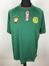 Cameroon Gold Football Lion's Scars Football Shirt Men's Size L Jersey Replica