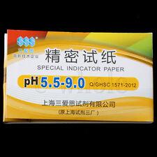 Ten 80 strips PH 5.5-9.0 Test Indicator Paper Water / Soil / Urine / Saliva BE