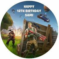 FORTNITE Edible Premium Wafer Paper Birthday Party Cake Decoration Topper Image