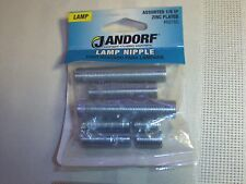 New listing Jandorf Lamp Nipple Assorted 1/8 Ip Zinc Plated #60160 Package of 8 (Lot of 8)