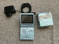 Nintendo GameBoy Advance SP Video Game Console cool Blue with new housing
