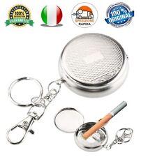 Posacenere Tascabile Mini Portacenere in acciaio per sigarette con Portachiavi