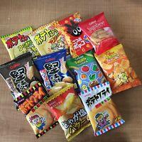 Selected Potato Snack Box Set, Mini Pack 11 pc of Salty Snack, Japan, Calbee