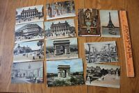 French Postcard Lot of Unique cards Vintage EARLY 1900s WWI era w/ stamps France
