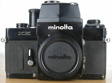 Minolta XK 35mm Camera Body with PRISM BLACK - WORKS  FRESH BATTERIES INSTALLED