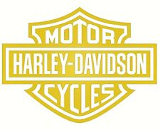2 X Harley Davidson Logo's Gold Vinyl Logo Stickers,Graphics,Decals, bike