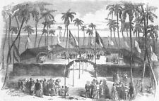 BRAZIL. Commencement of the Pernambuco Railway, on the island of Nogueira, 1855