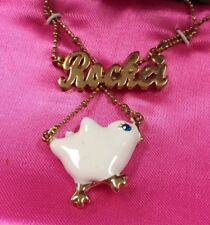 NWT Betsey Johnson ROCKER CHICK necklace boxed chic XOXO