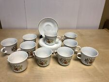 Corelle Indian Summer Set of 10 Cups and Saucers