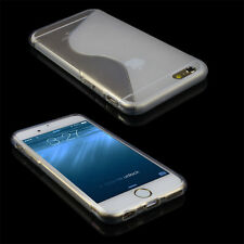 TPU Bumper Frame Flexible Back Case Cover REAL Glass Screen for iPhone 6 6S Plus
