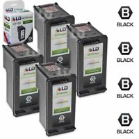LD Remanufactured Replacement for HP 96 / C8767WN HY Black Ink Cartridge 4-Pack