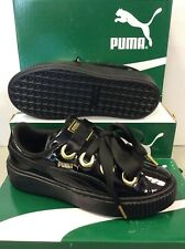 Puma Platform Kiss Patent Girls Women's Sneakers Trainers, Size UK 6 / EU 39