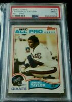 1982 Topps Football #434 Lawrence Taylor Giants RC Rookie HOF PSA 9 MINT