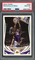 Shaquille O'Neal Lakers 2004 Topps Basketball Card #200 PSA 10 GEM MINT