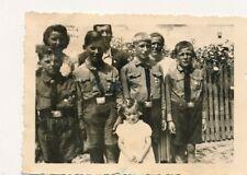 Foto, vier junge Burschen und ein kleines Mädchen, Jugend vor 1945 (N)19450