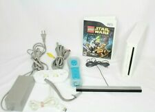 Nintendo wii Bundle Console System controllers loaded with games tested
