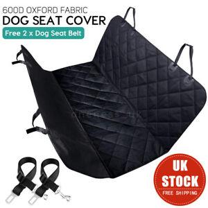 Nonslip Pet Car Back Seat Cover Cat Dog Waterproof Hammock Mat Padded Black