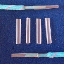 8 CLEAR AGLETS 3.2 mm TRANSPARENT SHOE LACE ENDS TIPS For Repairing & Making