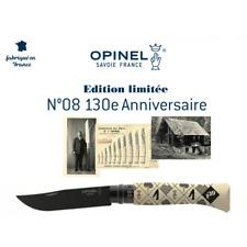 Magnifique Couteau Opinel N°08 Edition limitée 130 ANS Anniversaire Collection 2