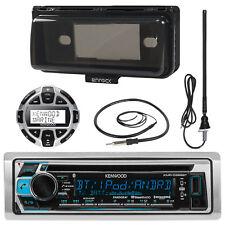 Kenwood CD Bluetooth Marine 2017 Receiver, Wired Remote, Antenna, Radio Cover
