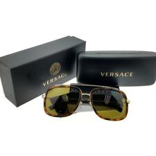 Versace VE2173-139173 Aviator Women's Havana Frame Brown Lens Sunglasses NWT