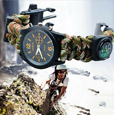 SURVIVAL WRIST WATCH WITH PARACORD BRACELET AND COMPASS (001.13.01.01.0002)