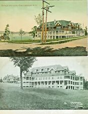 Lakewood NY  Collector's Set of 2, The Country Club and Cottages
