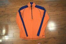 Men's Patagonia Ls 1/4 Zip Mock Neck Base Layer Shirt Orange Blue Medium