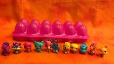 Lot of 11 Opened Hatchimals & Pink Colleggtibles Egg Carton