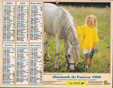 CALENDRIER ALMANACH des postes PTT 1995 cheval blanc