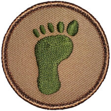 Footstompin' Scout Patches - Green Foot Print Patrol! (#416A)