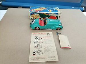 Vintage 1950's Distler Tin BMW Roadster Convertibe Wind-Up Works Boxed NMIB E4