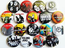KILLING JOKE Button Badges Pins Wardance Requiem Empire Song Punk Rock Lot of 18