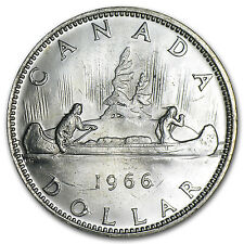 Canadian Silver Dollar Coin - Random Year Coin - AU/BU - SKU #8564