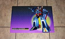 "Transformers G1 Starscream 24"" box art poster art print decepticons 80's"